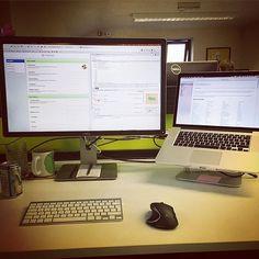 New work setup at @ekmpowershop  Finally after 7 years on OSX. #MacBookPro #Workspace