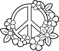 Peace and Love Coloring Pages My PEACE SIGN art Coloring Books