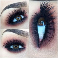 Thick Long Lashes and a Heavy Dark Eyeshadows