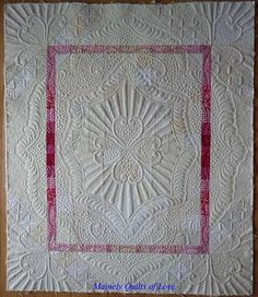 Sewing & Quilt Gallery: Neutral Fusion awaits binding