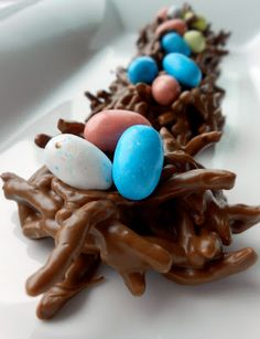 Chow Mein Chocolate Bird Egg Nests #Recipe #Dessert
