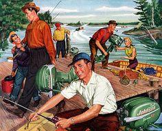rogerwilkerson:  Johnson Outboards - 1953