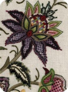Jacobean style flower #purple #green