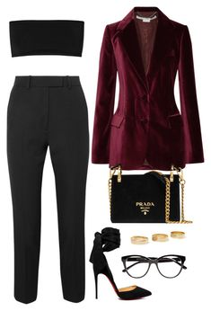 Без названия #273 by aminamor on Polyvore featuring polyvore fashion style Balmain STELLA McCARTNEY Racil Christian Louboutin Prada Loren Stewart Jimmy Choo clothing