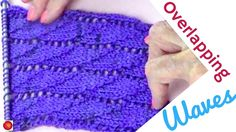 Overlapping Waves Lace Knitting Stitch