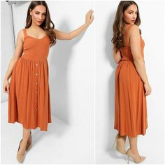 Party Dresses, Summer Dresses, Midi Sundress, 1950s Dresses, Fitted Bodice, Types Of Sleeves, New Look, Elegant, Casual