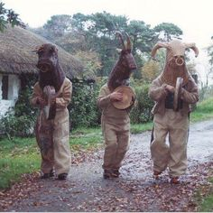 "Costumed musical performers called ""Mummers"" or ""Soulers"" who would go house to house begging for food donations called ""soul cakes"" in exchange for prayers on All Souls Day are where the tradition of Trick-or-Treating began. - THE ARMAGH MUMMERS. Ireland"