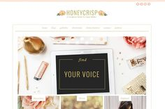 Honeycrisp- A Pretty WordPress Theme by angiemakeswebsites on @creativemarket