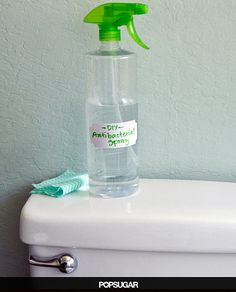 Home made antibacterial spray (lysol) for everywhere and everything.  Way safer than the store bought stuff