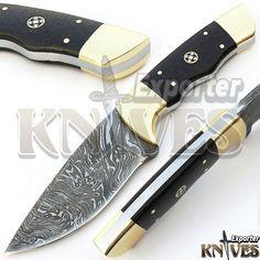 Knives Exporter Damascus Custom made Bushcraft Skinner Knife, Horn Handle #KnivesExporter