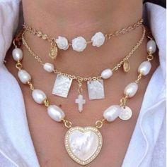 Diy Jewelry Necklace, Pearl Jewelry, Boho Jewelry, Jewelry Crafts, Beaded Jewelry, Jewelry Accessories, Handmade Jewelry, Fashion Jewelry, Jewelry Design
