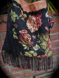 Gypsy Bag gypsy purse handmade shoulder bag velvet by GrandmaDede