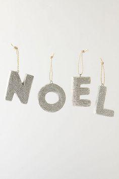 newspaper letter ornaments