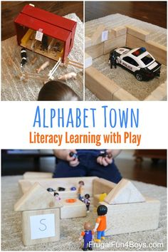 Alphabet Town: A Literacy Activity for Preschoolers.  Work on letter recognition and letter sounds with this alphabet activity that is more like play!