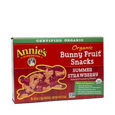 Shop Annie's Homegrown Organic Bunny Fruit Snacks - Summer Strawberry  at wholesale price only at ThriveMarket.com