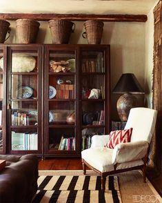 Design Studio, House Design, Garden Design, Library Cabinet, Deco Boheme, Living Spaces, Living Room, Cozy Living, Handmade Home