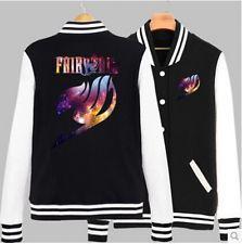 Unisex Anime FAIRY TAIL Casual Sweatshirt Baseball Jacket Coat S,M,L,XL,XXL New