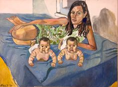 Alice Neel (US 1900-1984) Nancy and the twins, 5 months (1971) Oil on canvas