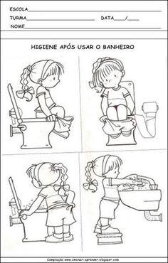 Resultado de imagem para atividades higiene pessoal educação infantil