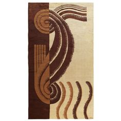 View this item and discover similar for sale at - Hand-woven wool pile carpet by Marion Dorn, with a deco design in tan, terra cotta and chocolate brown. Woven signature to edge: 'dorn. Carpet Sale, Rugs On Carpet, Carpets, Extra Large Area Rugs, New York Galleries, Art Deco Wallpaper, Art Deco Rugs, Handmade Rugs, Vintage Rugs