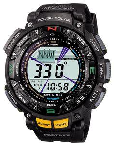 Amazon.co.jp: [カシオ]CASIO 腕時計 PROTREK プロトレック Triple Sensor タフソーラー レジスターリンク付き2層液晶モデル PRG-240-1JF メンズ: 腕時計通販