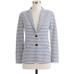 J.Crew Maritime blazer in stripe ($118) ❤ liked on Polyvore