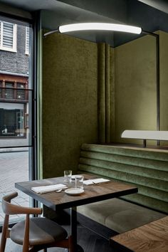 Amsterdam has welcomed a new culinary destination, Wyers Bar & Restaurant . Designed by Studio Modijefsky , the interior features a rich c. Interior Design Minimalist, Interior Design Tips, Modern House Design, Home Interior, Café Retro, Retro Cafe, Deco Restaurant, Restaurant Design, Industrial Restaurant