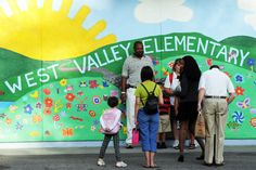 West Valley Elementary School Mural  In a stunning move, the Cupertino Union School District announced late Wednesday night that all 24 teachers at West Valley Elementary School will be reassigned to other district campuses.