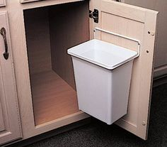 Tilt out trash bin do it yourself home projects from ana for Commercial bathroom trash cans
