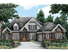 New American House Plan with 2700 Square Feet and 4 Bedrooms(s) from Dream Home Source | House Plan Code DHSW50595