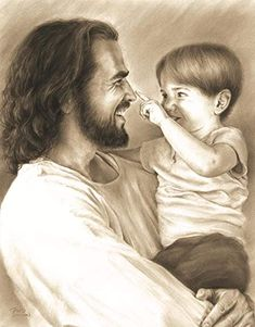Images Du Christ, Pictures Of Jesus Christ, Jesus Love Images, Jesus Pics, Jesus Laughing, Laughing Jesus Picture, Jesus Smiling, Image Jesus, Jesus Drawings