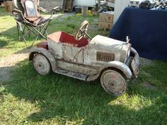 What a sweet ride - a 1920s Dodge pedal car!