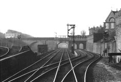 Looking towards Wolverhampton from the rear of a DMU with the Harborne branch seen climbing on the left