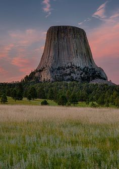 32 Surreal Travel Spots You Won't Believe Exist in America- Devil's Tower Black Hills of Wyoming
