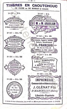 Trad with a Twist : Classic Stamp : Vintage french rubber stamps catalog sur Etsy, 3,04€