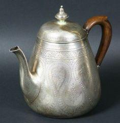 3254: English Silver Teapot : Lot 3254