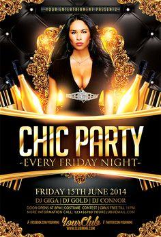 women s night party free psd flyer template http freepsdflyer