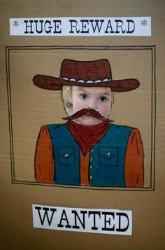 Adorable for a cowboy party photo booth
