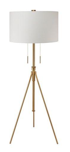 "Mantis Brass 71.75"" Tripod Floor Lamp"