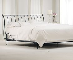1,299 ~ Paris Wrought Iron Sleigh Bed (with Open Foot)