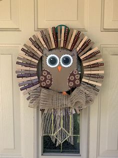 Owl Wreaths, Sunflower Wreaths, Burlap Bows, Old Love, Frame Wreath, Clothespins, Winter White, Main Colors, Beautiful Hands