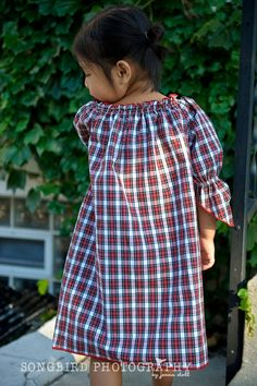 upcycled/recycled mens shirt to little girls dress/tunic top.
