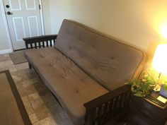 This Futon Package Has A Preupholstered Cover On The Mattress With Mission Style Arm Rests