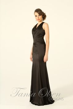 Look drop dead gorgeous in the Stella black evening dress by Tania Olsen, every woman needs the perfect little black dress in her closet!