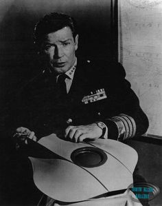 Richard Basehart and the Flying Sub model
