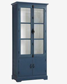 Space Saving Furniture, Cool Furniture, Blue China Cabinet, Tall Cabinet Storage, Locker Storage, Restoring Old Furniture, Scandinavian Home, Nalu, New Homes