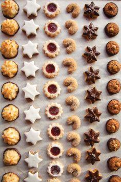 An assortment of German Christmas cookies at Rischart bakery in Munich