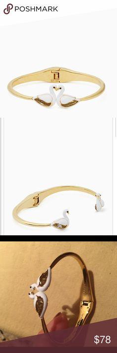 Kate Spade Swan Bangle Bracelet Brand New, On Pointe Swan Open Hinge Bangle Bracelet. kate spade Jewelry Bracelets