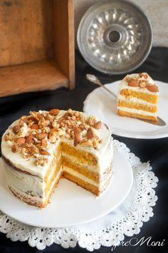 Möhrenkuchen Aus Schweden - - Atıştırmalıklar - Las recetas más prácticas y fáciles Easy Cake Recipes, Healthy Dessert Recipes, Cookie Recipes, Desserts, Dinner Recipes, Maila, Food Cakes, Carrot Cake, Chip Cookies