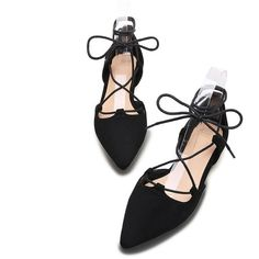 Chiko Diana Lace Up Pointed Toe Flat Sandals ($87) ❤ liked on Polyvore featuring shoes, sandals, flats, flats sandals, pointed toe shoes, lace-up sandals, summer shoes and laced up flats